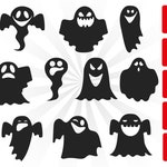 ghost face svg, helloween svg, boo svg, spooky svg, cut file, silhouette, ghost svg boy girl, trick or treat svg, svg cutting file ghost