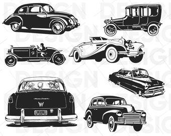 Antique Car Svg Etsy