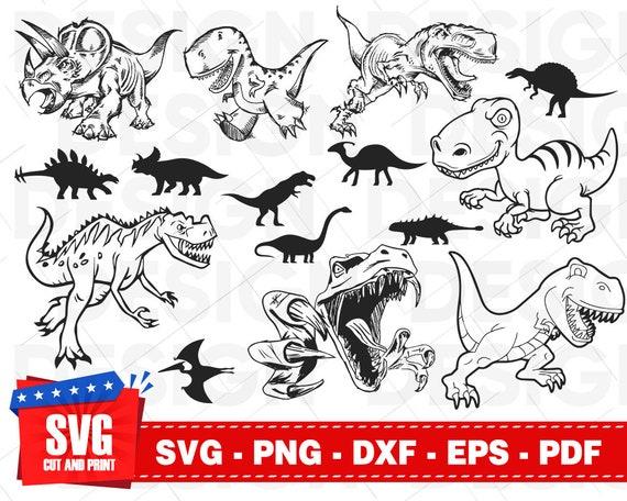 Dinosaur Svg Bundle Dinosaurs Clipart Dinosaur Vector Etsy