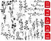 Flower svg Bundle, floral svg, flowers svg, svg files for cricut, flower monogram svg, Floral Clipart, decoration svg, wedding flowers svg