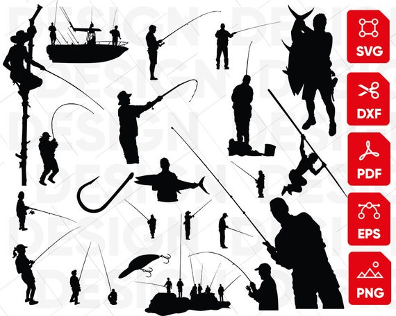 Download Fisherman Svg Bass Fish Svg Fish Hook Svg Fathers Day Svg Etsy