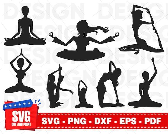 Yoga Meditation Svg Zen Svg Asana Svg Lotus Svg Namaste Etsy