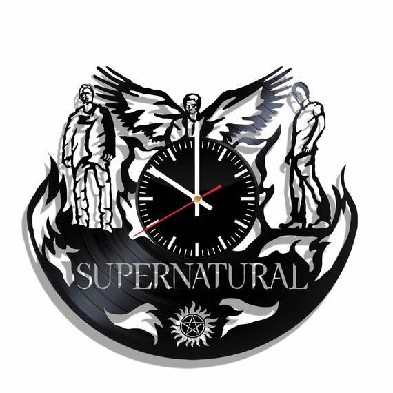 Supernatural Vinyl Record Wall Clock Etsy