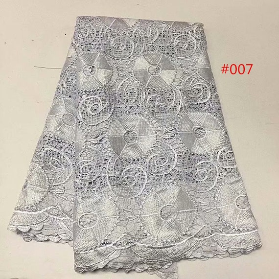 Tissu de dentelle guipure couleur cordon double cordon couleur en tissu, tissu africain en dentelle 5 yards/lot en maille dentelle c14d7a