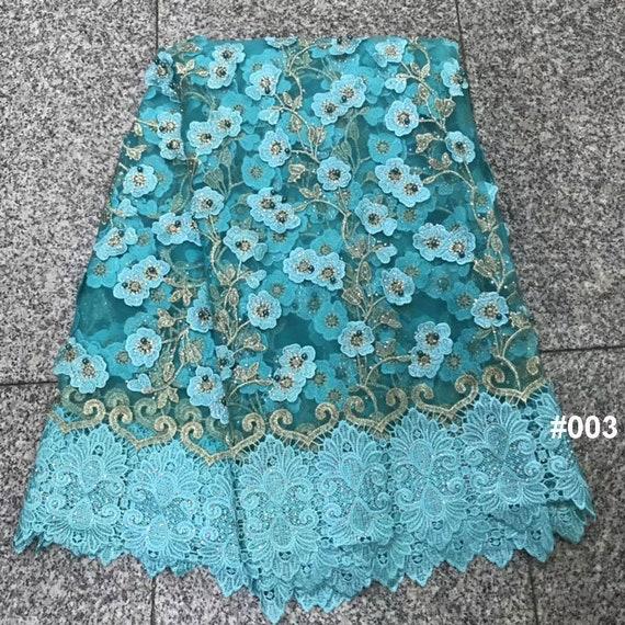 tissu de dentelle de luxe en perles de 5 pour yards, 4 couleurs pour 5 choisissent en tissu africain dentelle pour robe de mariée f5f00b