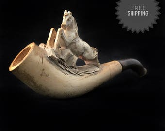 Vintage sea foam german pipe