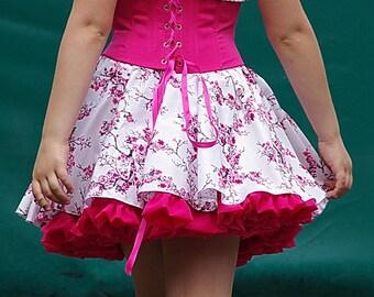 Corset & skirt for flower girl or a flower child