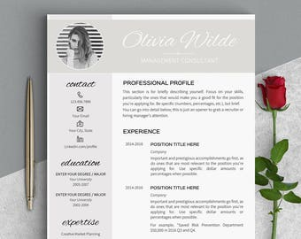 resume template modern resume templates creative resume etsy