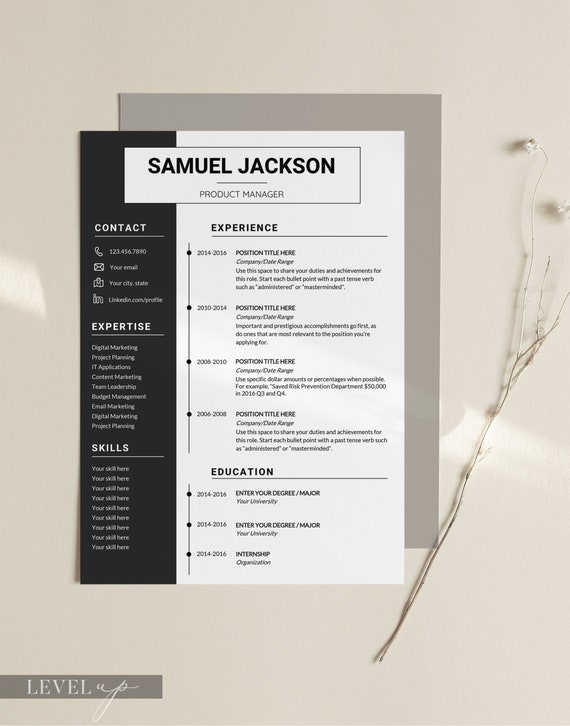 Professional Resume Template Design Resume Templates Modern Etsy