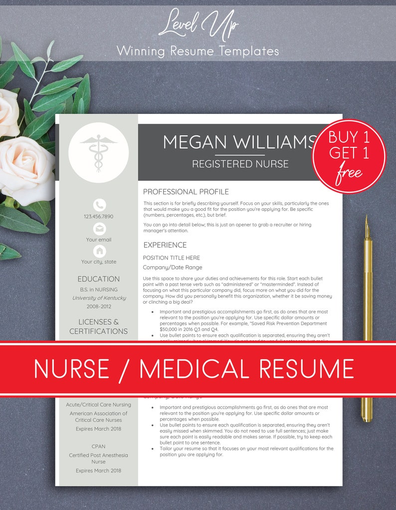 NURSE Resume Template Medical Nursing Rn