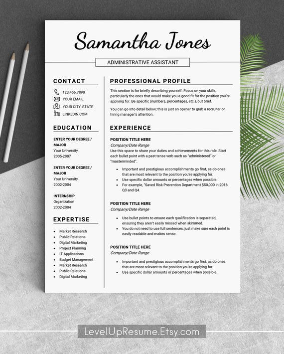 design resume template professional resume templates modern etsy