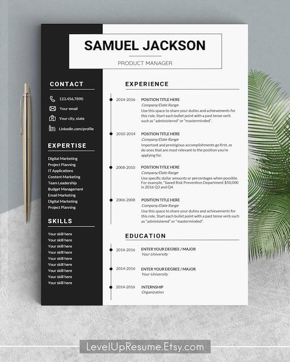 Professional Resume Template Design Resume Templates Modern Resume Design Cv Template Cv Creative Resume Professional Minimalist Resume Word