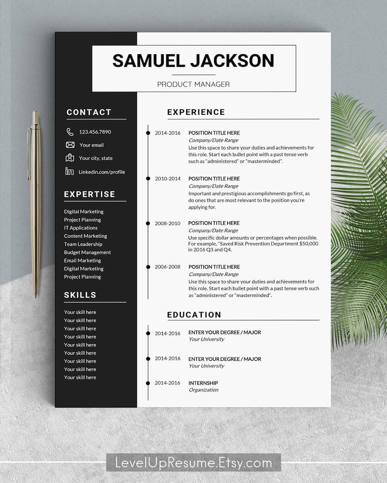 Professional Resume Template Design Templates Modern