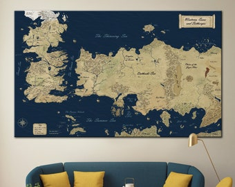 Game Of Thrones Map Etsy