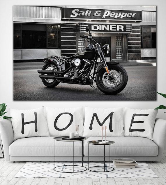 Motorrad Druck Motorrad-Wand-Dekor Motorrad-Leinwand große