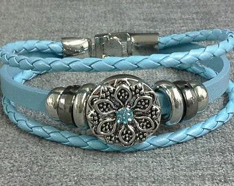 Snap on bracelet
