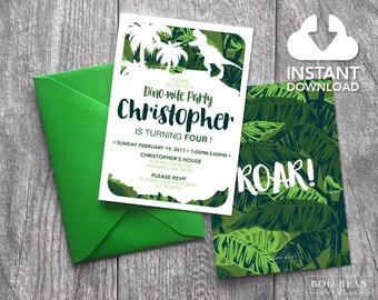 Dinosaur Birthday Invitation | Dinosaur Invitation | Boys invitation | Dinosaur Birthday Party | Dino Invitation | Dinosaur Party