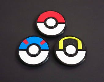 Pokemon Pokeball Great Ball Ultra Ball Classic Fidget Spinner Toy Design for Relaxation and Calming  - Made in USA