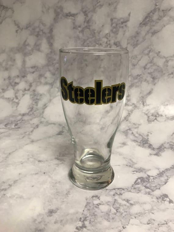 Personnalisés de verre à bière Steelers   Personnalisé de chope de bière Steelers   Verre à bière football   Personnalisés de verre de vin rouge de Football NFL   Steeler