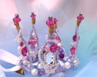 crown and magic wand corona is violet crown for the new year crown for the girl Crown for a girl crown for a birthday for a princess