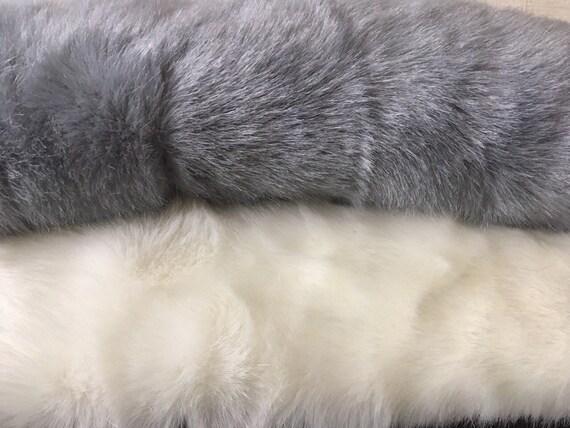 Blanco con dibujos tela de piel sintética Material Soft Toys Furry coats jacket Artesanía Coser