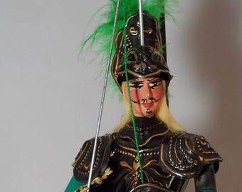 "Traditional Sicilian Puppet ""Rinaldo"" (Renaud de Montauban)"