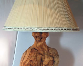 Olive Wood Vintage Table Lamp