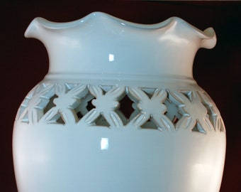 Traditional Sicilian White Umbrella Stand