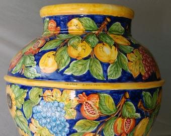 "Sicilian Decorative Vase ""Giara"""