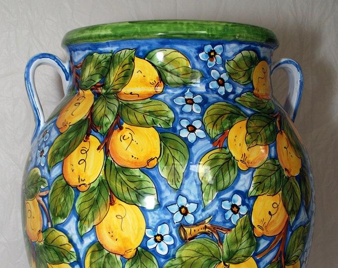 "Featured listing image: Sicilian Decorative Vase ""Giara"""