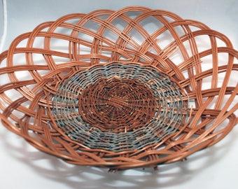 """Traditional Sicilian Willow """"Vimini"""" Basket - """"Canestro Siciliano"""""""