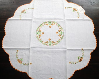 "Sicilian Linen Tea Tablecloth Set ""Mondello"""