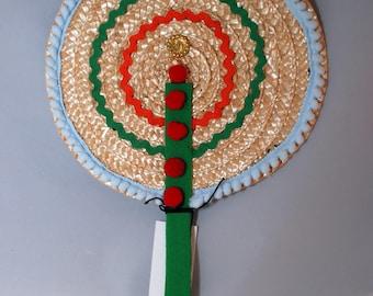 "Traditional Sicilian Hand Fan ""U Cornu"" (The Horn)"