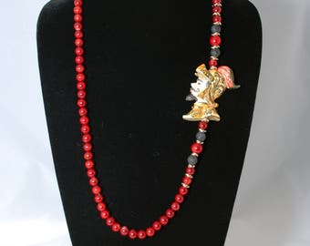 Traditional Sicilian Knight Head Necklace