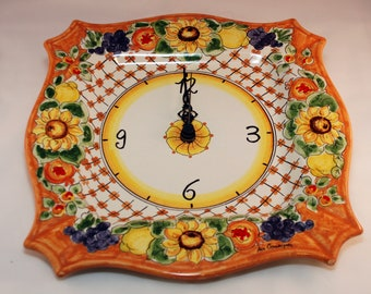 Decor Sicilian Ceramic Clock