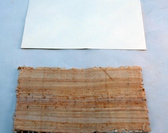 Traditional Sicilian Papyrus Postcard and Envelope