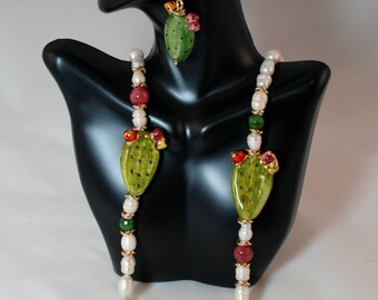 Traditional Sicilian Prickly Pear Earrings