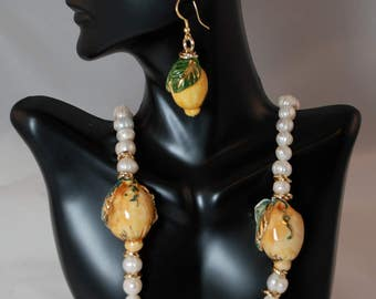 Traditional Sicilian Lemon Necklace