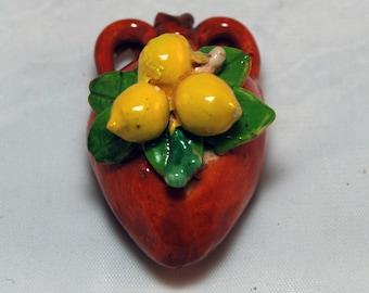 Traditional Sicilian Amphora Lemon Magnet