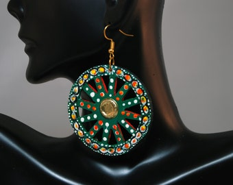 Traditional Sicilian Chariot Wheel Earrings