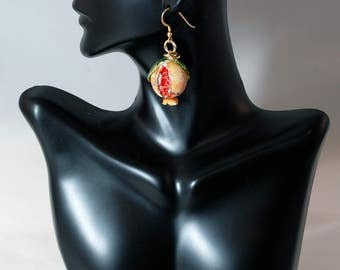 Traditional Sicilian Pomegranate Earrings