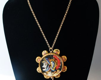 "Traditional Sicilian ""Tamburello"" Knight Necklace"