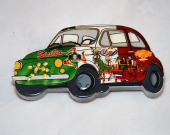 Traditional Sicily Fiat 500 Magnet