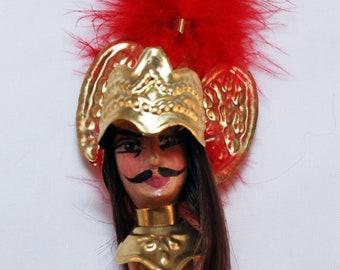 "Traditional Sicilian Wine Bottle Closer Cork Puppet ""Rinaldo"""