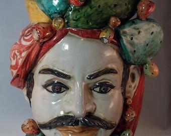 """Traditional Sicilian Saracen Head """"Testa di Moro"""""""