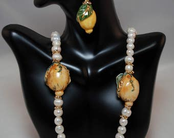 Traditional Sicilian Lemon Earrings