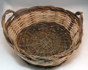 "Traditional Sicilian Willow ""Cesta di Natale"" (EN. Christmas Basket) for fruit or gift"