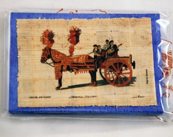 "Traditional Sicilian Papyrus Magnet ""Sicilian Chariot"""