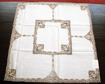 "Sicilian Linen Tea Tablecloth Set ""Catenanuova"""