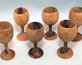 Olive Wood Decorative Cups